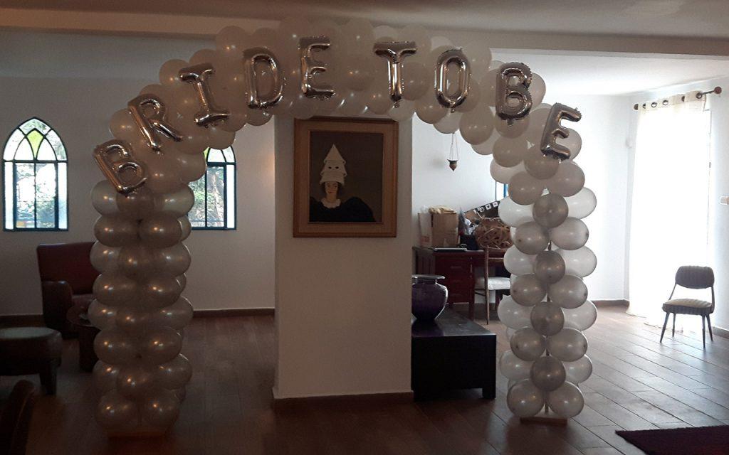 עיצוב בלונים למסיבת רווקות